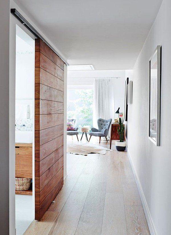 Puerta corrediza de madera