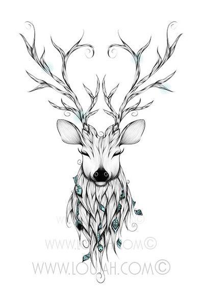 Les 25 meilleures id es de la cat gorie tatouages de cr ne de cerf sur pinterest tatouages de - Tatouage cerf signification ...