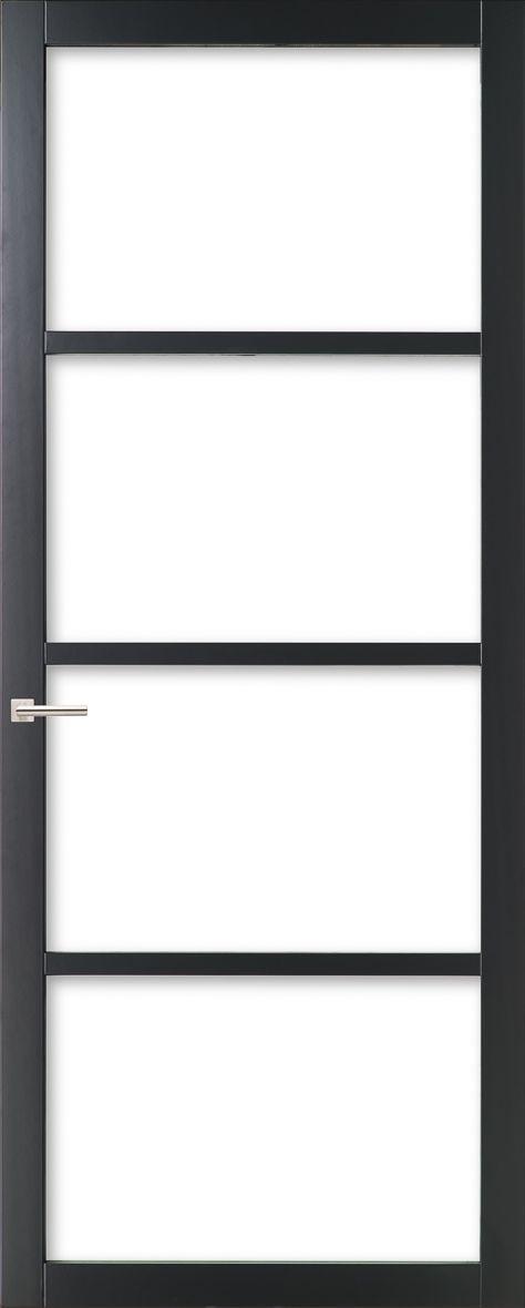 WK6308 - Industriële binnendeur met een strak, modern, stoer en tijdloos design. Kenmerkend voor deze deur is de verfijnde uitstraling en de slanke profilering. Passend in een modern en strak interieur. De deur zorgt voor veel lichtinval en een ruimtelijk karakter. Ook toepasbaar als dubbele deuren of schuifdeur(en).