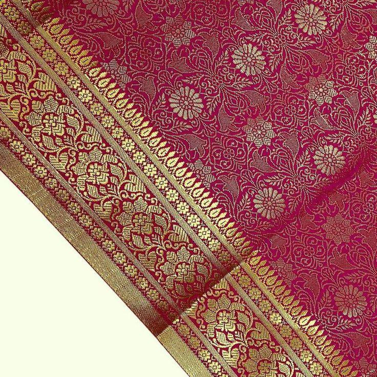 Beautiful Indian Art Silk All Over Woven Zari Brocade Heavy Saree. Work: Zari Woven. Sale for: 1 Sari (1 Quantity = 1 Sari). Art Silk Fabric are Man made materials that look like silk and are also known as Artificial Silk.   eBay!