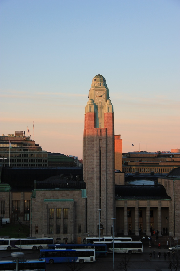 Helsinki Central Railway Station Tower, photograph by Jouni Jyllinmaa