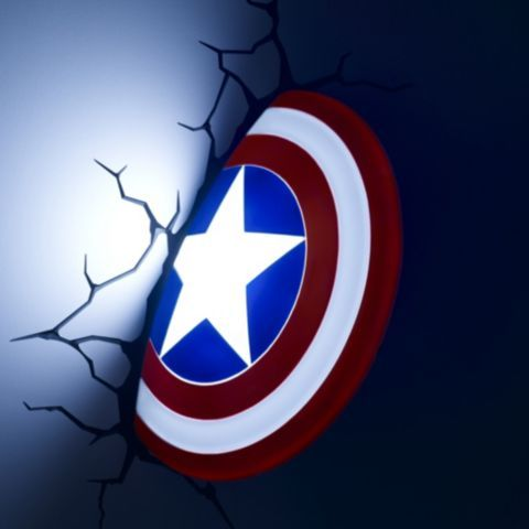 Buy Philips Marvel Avengers Captain America Shield 3D LED Wall Light from our Single Wall Lights ...