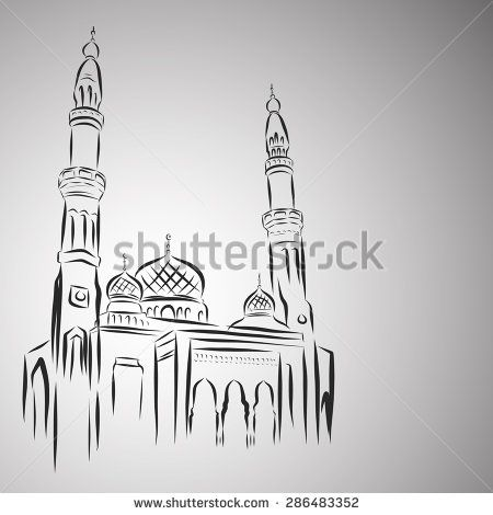 Vector Illustration of Mosque - stock vector