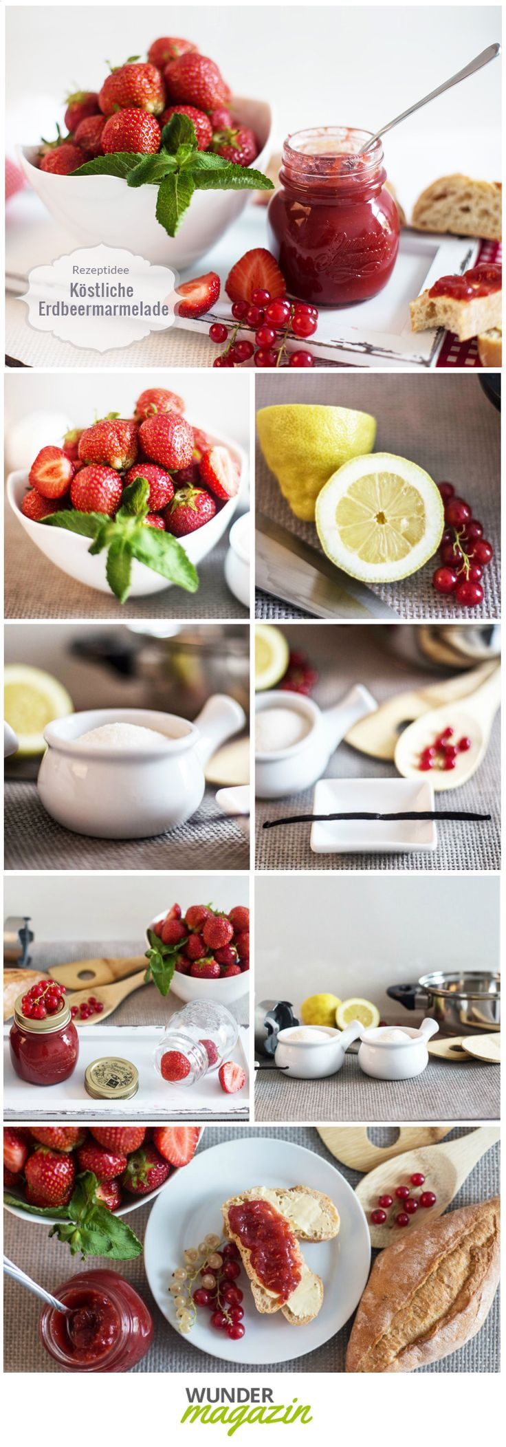 Selbstgemachte Erdbeermarmelade wird ganz bestimmt ein Hit in deinem Picknickkorb! Das Rezept findest du auf http://www.wunderkarten.de/magazin/erdbeermarmelade-rezept-fuer-den-fruchtigen-genuss/