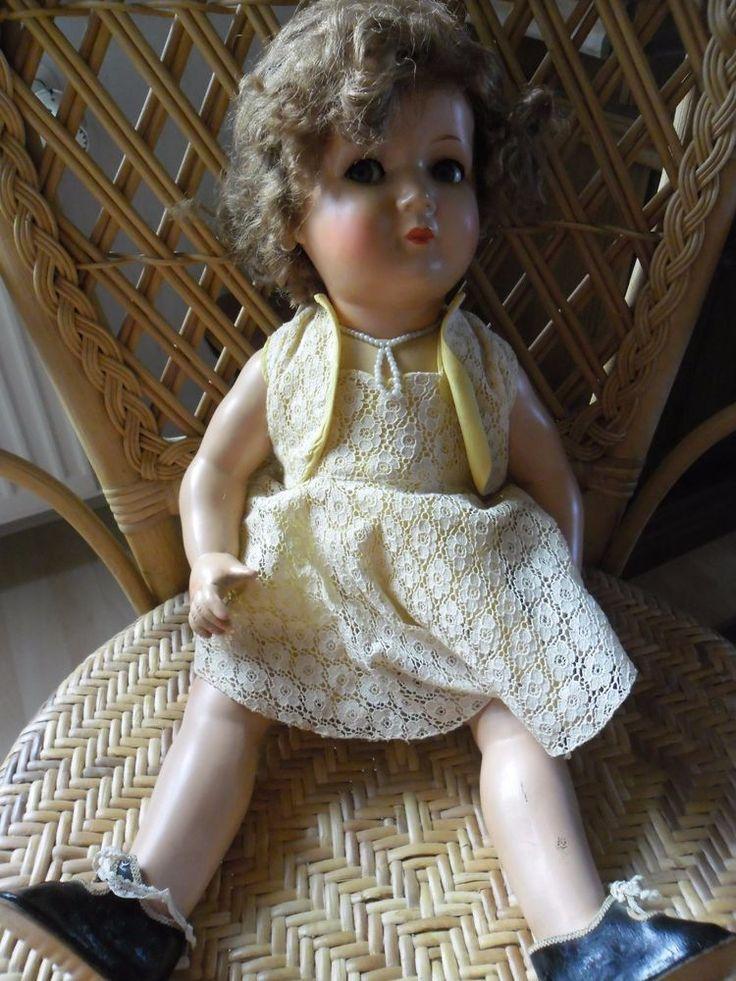 antike Puppe König+Wernicke 242/51, 51cm, mit Haaren, Stimme, Schlafaugen TOP