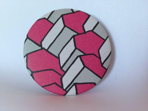 Hand made Recycled design Paper pocket mirror  di Pabiru su Etsy, €5.00