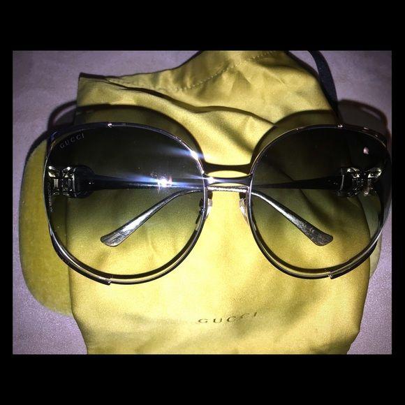 ac4c9039a0 NWT Gucci Oversized Sunglasses Gucci GG0225S 004 Gucci GG0225S C63 004 Gucci  gold tone sunglasses Dark
