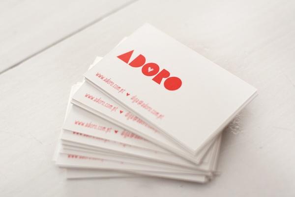 GRAPHIC DESIGN   business cards by Sofia FiFi Dias for ADORO