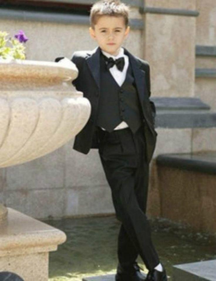 Attractive Tuxedos Fashion Kid Complete Designer Notch Lapel Boy Wedding Suit Boys' Attire Custom-made (Jacket+Pants+Tie+Vest)
