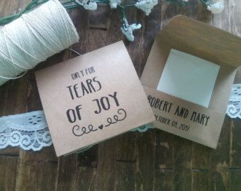 Tears of Joy Tissue Packets Wedding by AdelynLeeCreations on Etsy