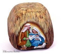 Painted Rock Nativity