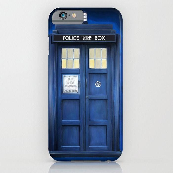 blue box iPhone & iPod Case