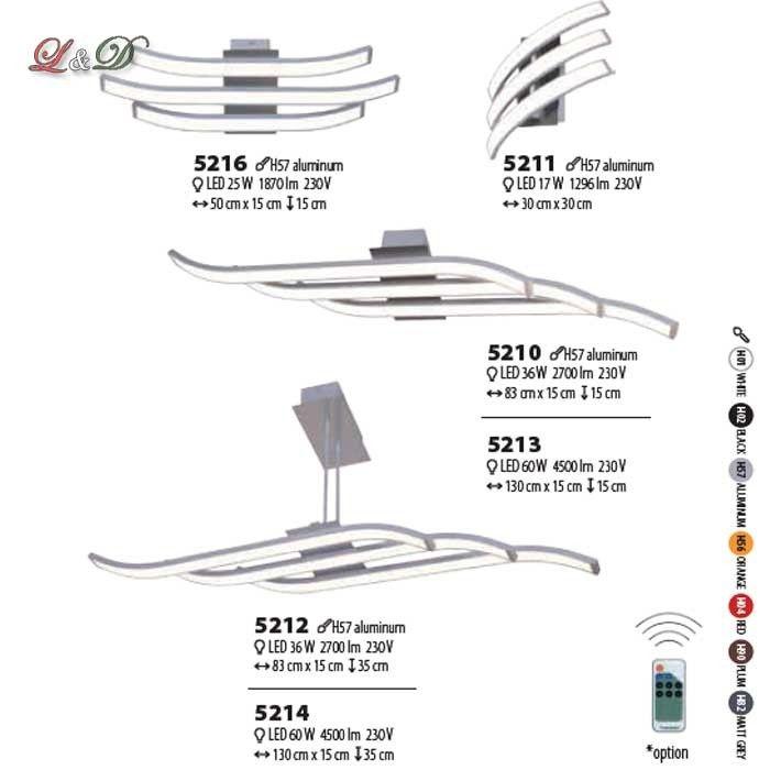 LARGO mennyezeti lámpa 5212 - Design Led Lámpák GM Led Line lámpa