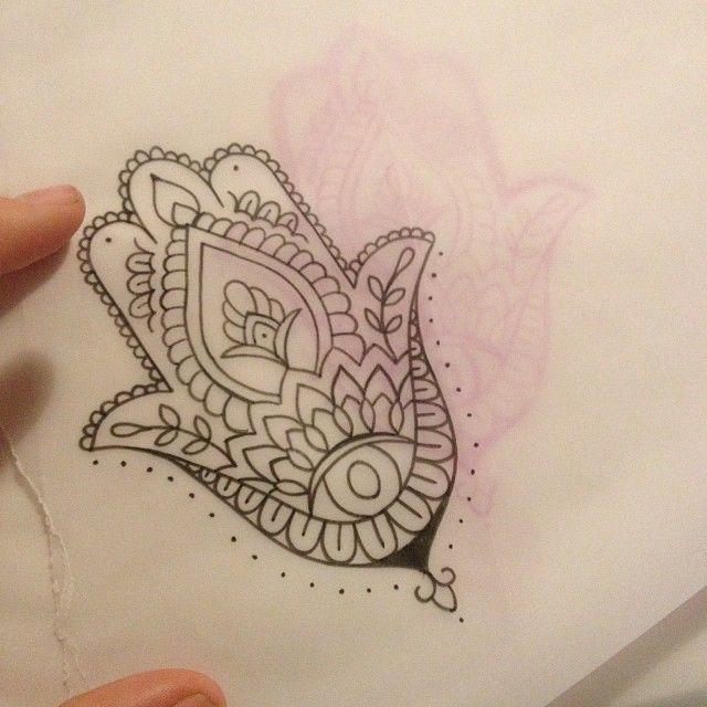 Tattoo Designs Hand Simple: Simple Hamsa Tattoo!