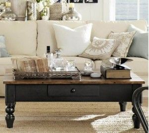 Refinish for coffee table?  Our table is this exact style only plain wood.