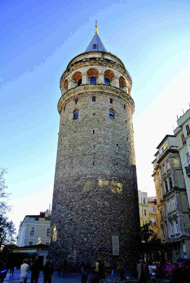The Galata Tower — called Christea Turris by the Genoese — is a medieval stone tower in the Galata/Karaköy quarter of Istanbul, Turkey, just to the north of the Golden Horn's junction with the Bosphorus.