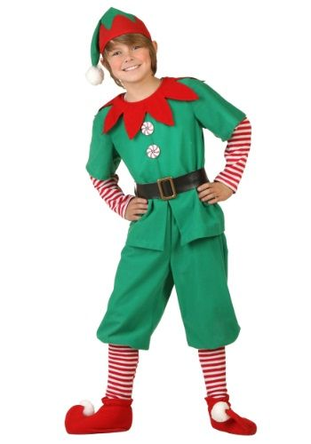 When you go in this Child Holiday Elf Costume, there's no limit to the toymaking you might do! That's what elves do best! You can just enjoy the holidays as well, your choice!