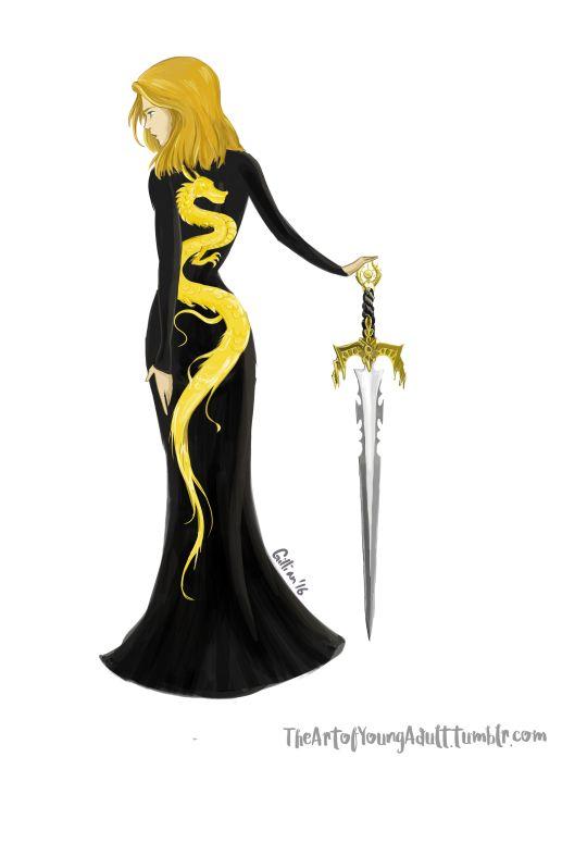 Aelin's dress in Queen of Shadows