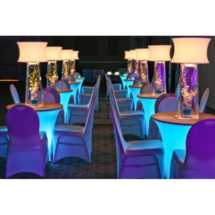 Diy Led Uplighting Rental Atlanta: LIGHTS UP COCKTAIL TABLES! [BuyDisklyte