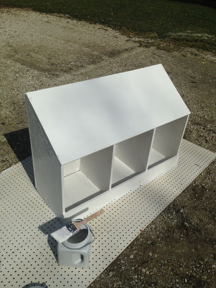 How To Build Nesting Boxes Out Of One Piece Of Plywood Chickens Pinterest Building A