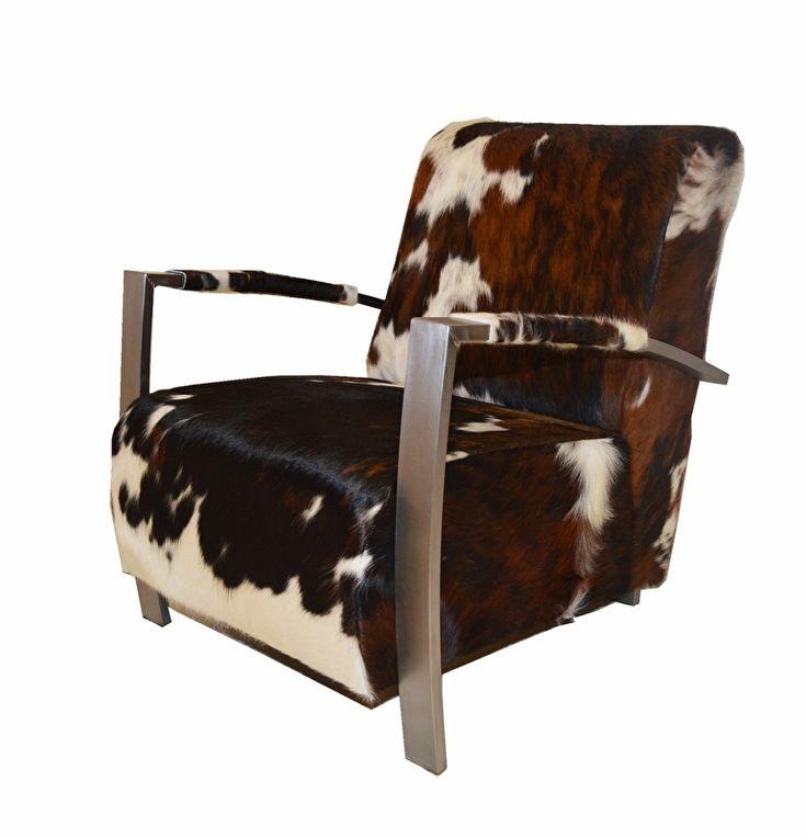 Unieke fauteuil met koeienhuid