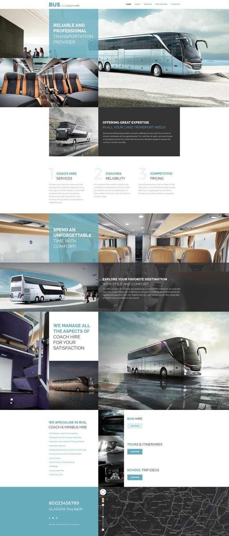 Transport Website Template
