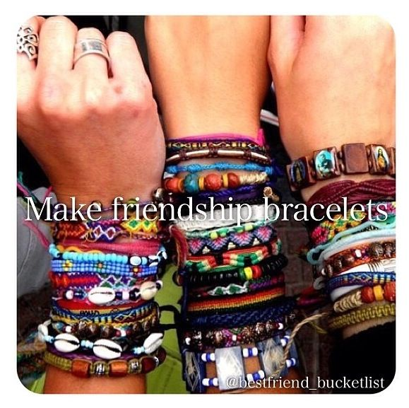 Best Friend Bucketlist- make friendship bracelets
