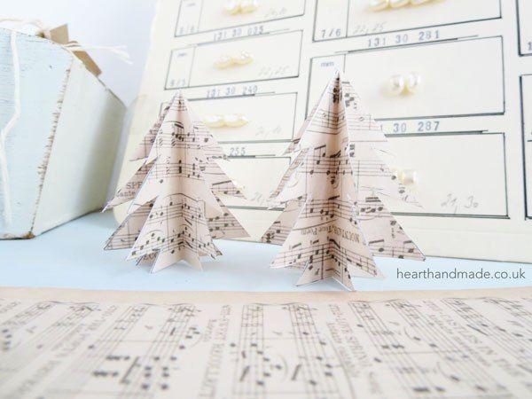 DIY Paper Christmas Trees // heart handmade uk