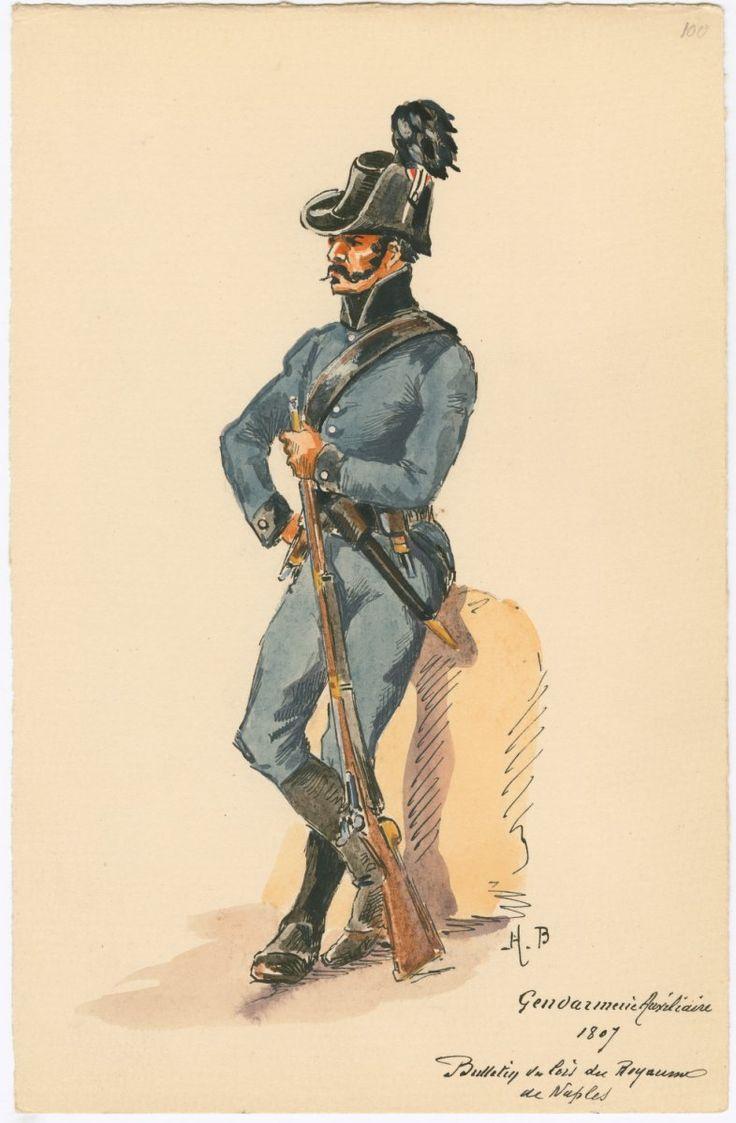 Gendarmerie Auxiliaire, 1807 Naples
