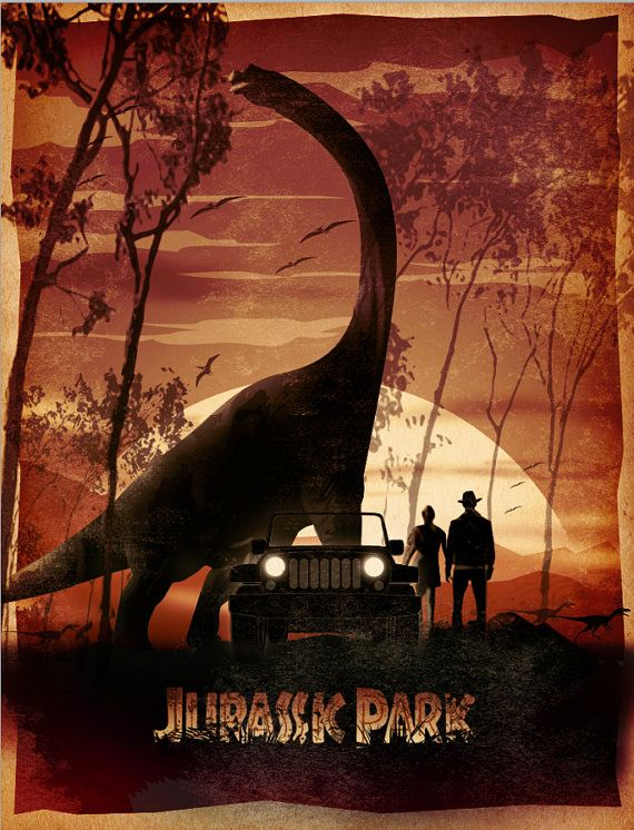Jurassic Park print The Lost World Jurassic Park by PosterInvasion