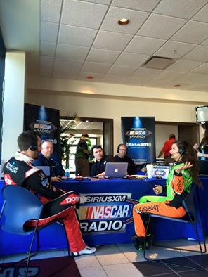 Danica Patrick and Austin Dillon are interviewed for Sirius XM NASCAR Radio, NASCAR Media Day, 2/12/15.