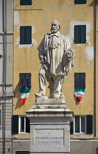 Garibaldi, Piazza del Giglio, Lucca