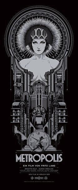 METROPOLIS Film de Fritz Lang (1927). Sérigraphie de Ken TAYLOR (91x38 cm) (Mondo, 2012). Épreuve d'artiste numérotée à la main (6/18) - Kapandji Morhange - 06/10/2014