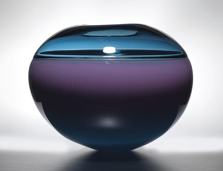 1989 Blown Studio Glass Vase by Sonja Blomdahl