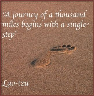 A journey of a thousand miles begins with a single step. Lao-tzu