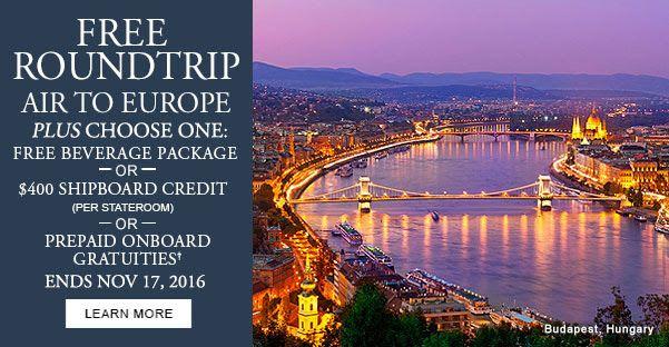 Soak in Budapest's Healing Waters Plus FREE Roundtrip Air! - https://traveloni.com/vacation-deals/soak-budapests-healing-waters-plus-free-roundtrip-air/ #gocruising #europeanrivercruise #freeairfare