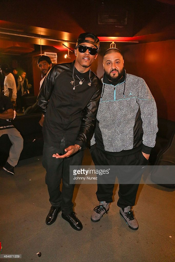 August Alsina and DJ Khaled attend August Alsina 'Testimony' Album Release Concert at S.O.B.'s on April 14, 2014 in New York City.