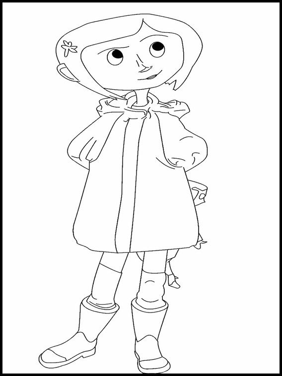 Printable Coloring Pages For Kids Coraline 4 Com Imagens