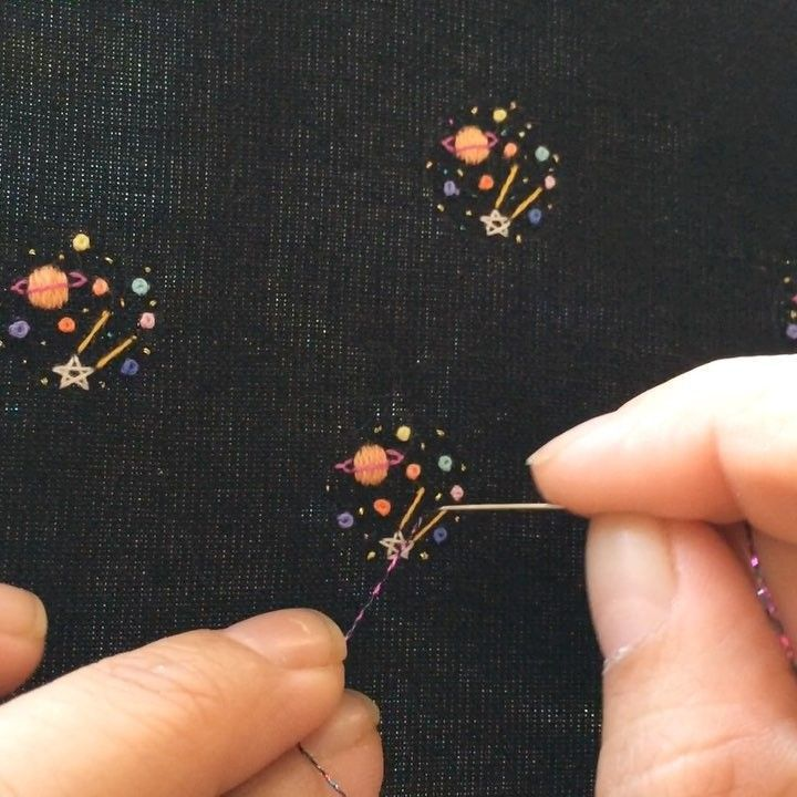 Embroidery: small galaxies