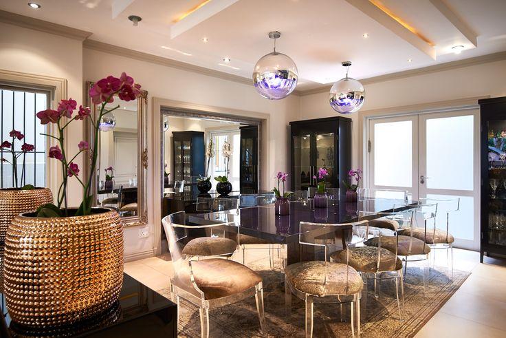 Dramatic Dining Decor Waverly House 2014 | Nicole Davis Interiors