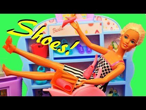 BARBIE'S FUNNY SHOE PROBLEMS! Frozen Prince Hans & Barbie Shop at Mall Doll Parody DisneyCarToys - YouTube