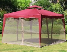 "Red Mosquito Malla 117""x 117"" Gazebo Red Para Patio Pabellón Carpa de jardín al aire libre"