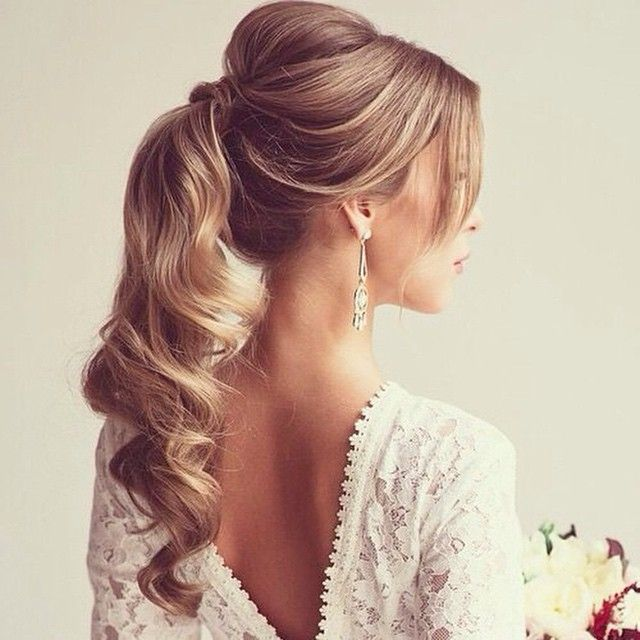 Peachy 1000 Ideas About Formal Ponytail On Pinterest Wavy Ponytail Short Hairstyles Gunalazisus