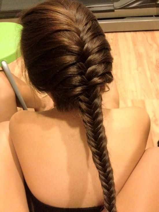 #Hair #Braid #Fishtail #Beauty #Hairstyle #Style #Pretty #Brunette #Long #French #Beautiful