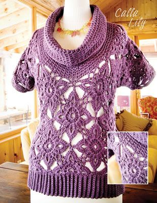 Calla Lily from Mission Falls Goes Crochet