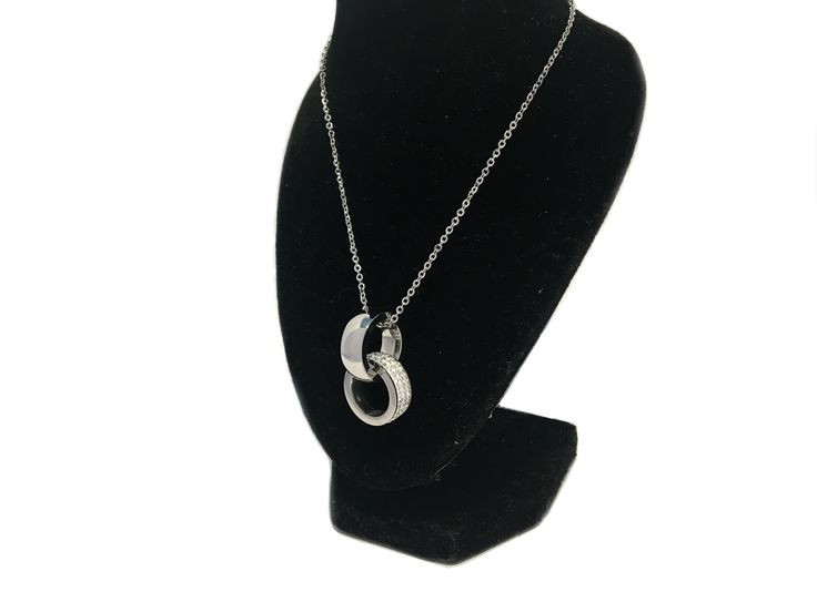 Halsband i stål med Cubic Zirconer