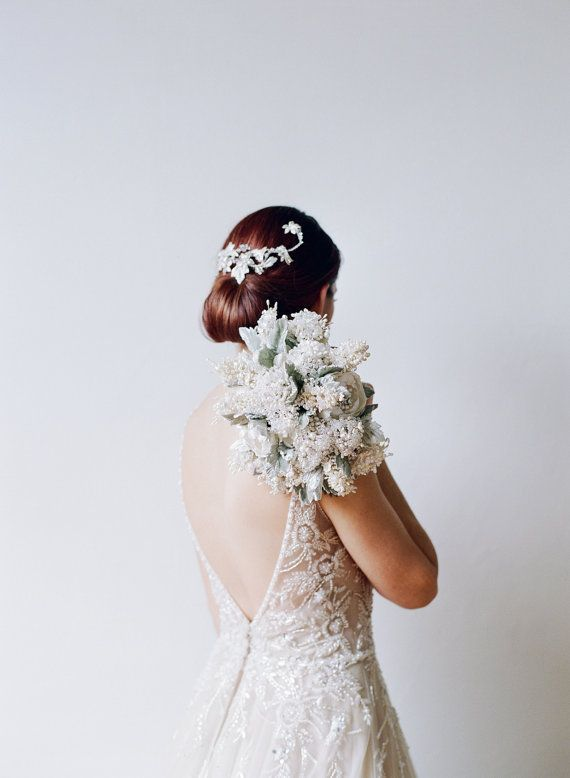 Light Heart Couture Pearl and Crystal Jeweled Bridal by EmiciLivet
