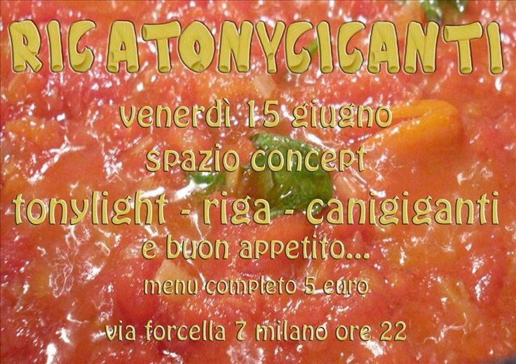 Rigatony Giganti una cena metaforica a base di musica e visual il 15 giugno a Milano