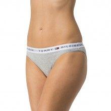 Tommy Hilfiger šedé kalhotky Bikini Iconic - 530 Kč