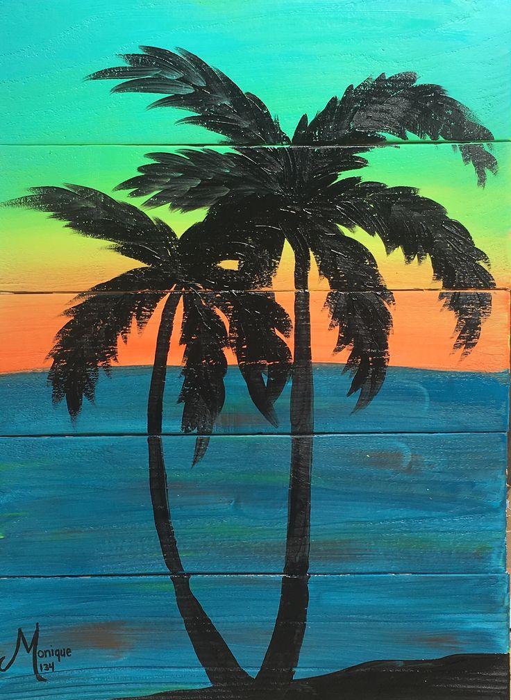 Sunset Serenity II #glitzoncanvas #glitzonboards #amermaidsminddesigns